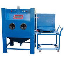 Turntable Sand Blast Cabinet,Heavy-duty Blast Cabinet for Moulds Cleaning,