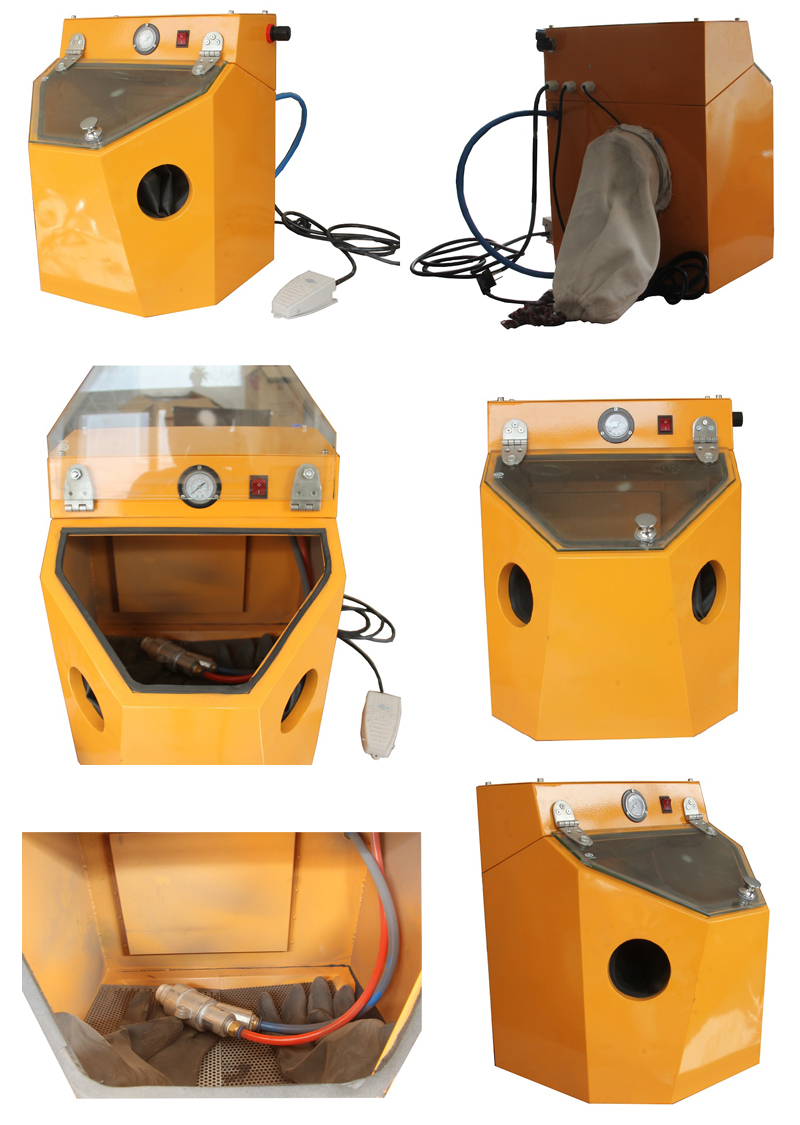 MIni Lab Sandblaster Cabinet  Benchtop Sandblaster for Sale