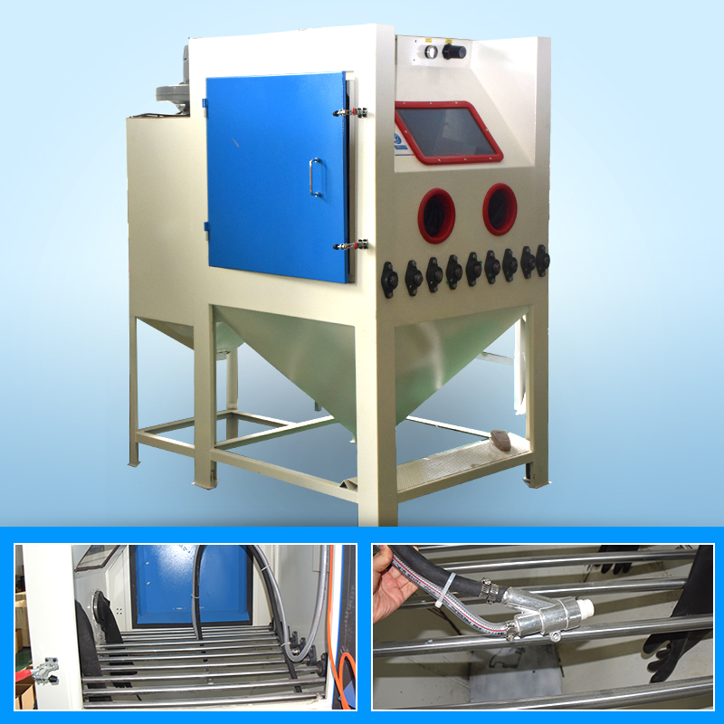 Roller Conveyor Manual Sand Blasting Machine