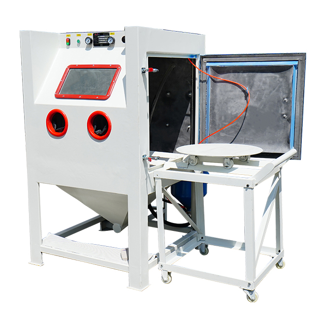 Pressure Blast Cleaning Cabinet for Wheel