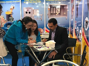 Kafan Sandblasing Equipment in SF CHINA Exhibition (Shanghai)